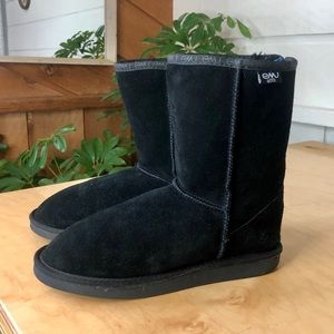 EMU Australia Black Suede and Wool Boots